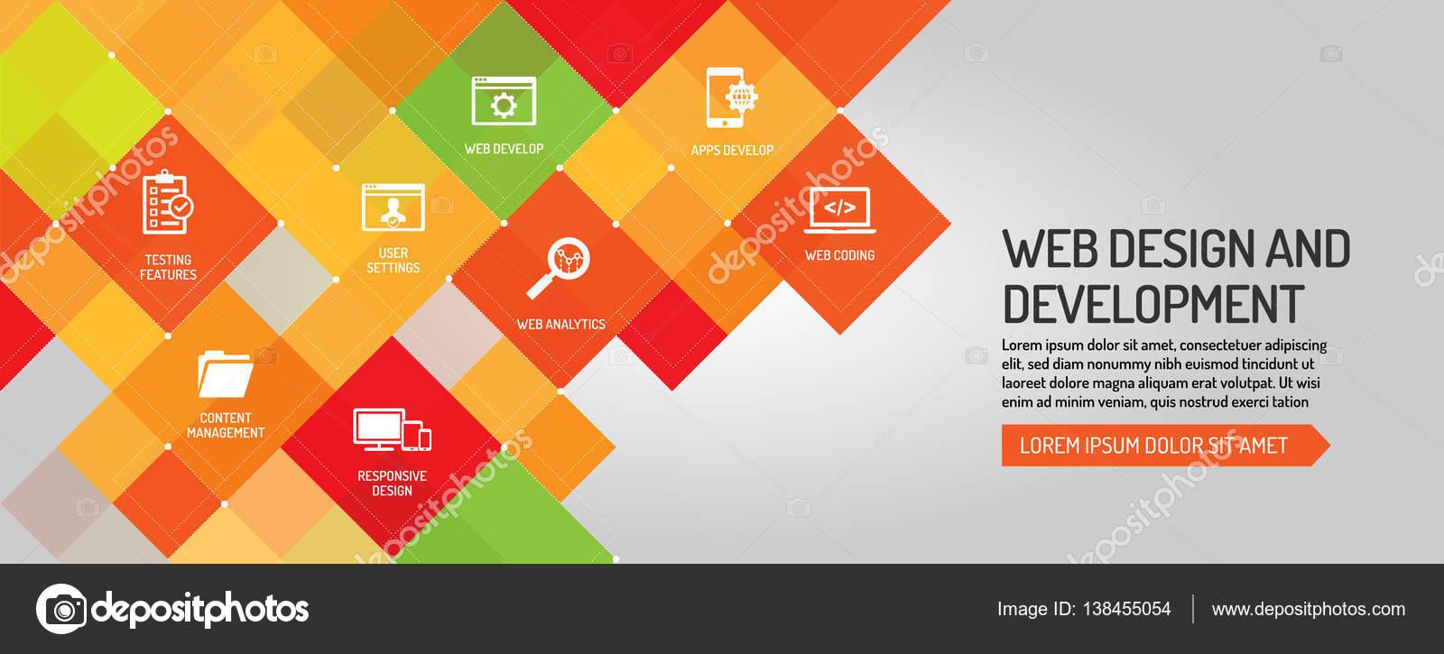 web design and development banner stock vector garagestock