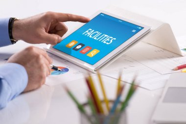 CONCEPT ON TABLET PC SCREEN
