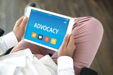 ADVOCACY CONCEPT ON TABLET