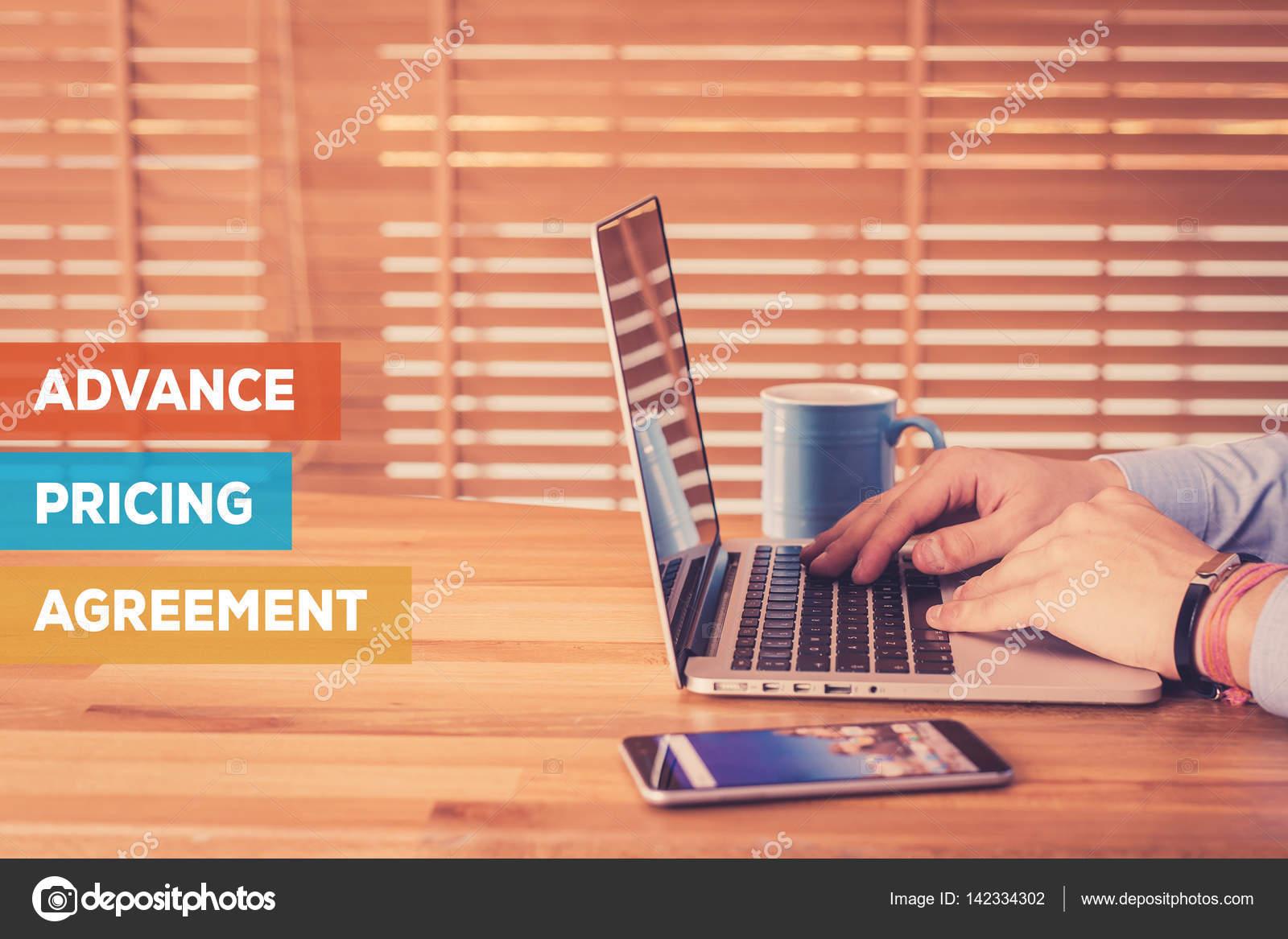Advance Pricing Agreement Concept Stock Photo Garagestock 142334302