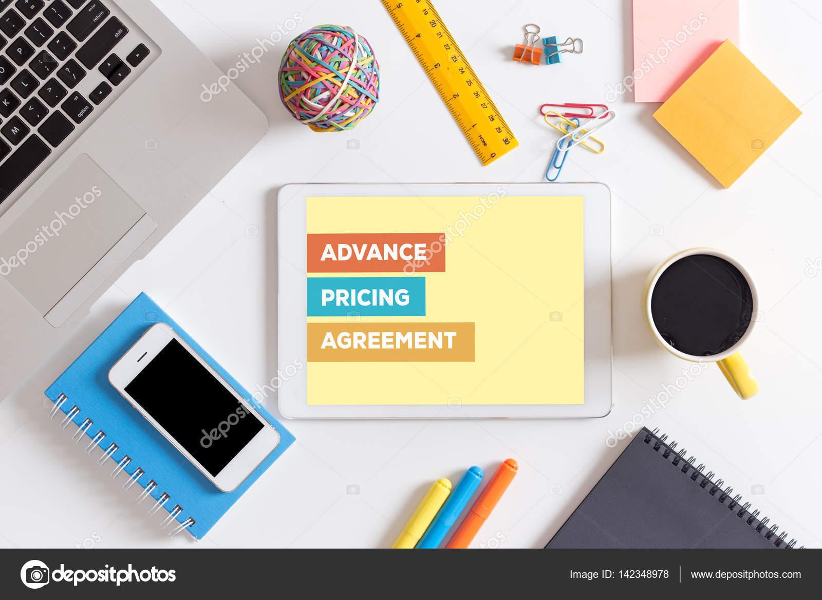 Advance Pricing Agreement Concept Stock Photo Garagestock 142348978