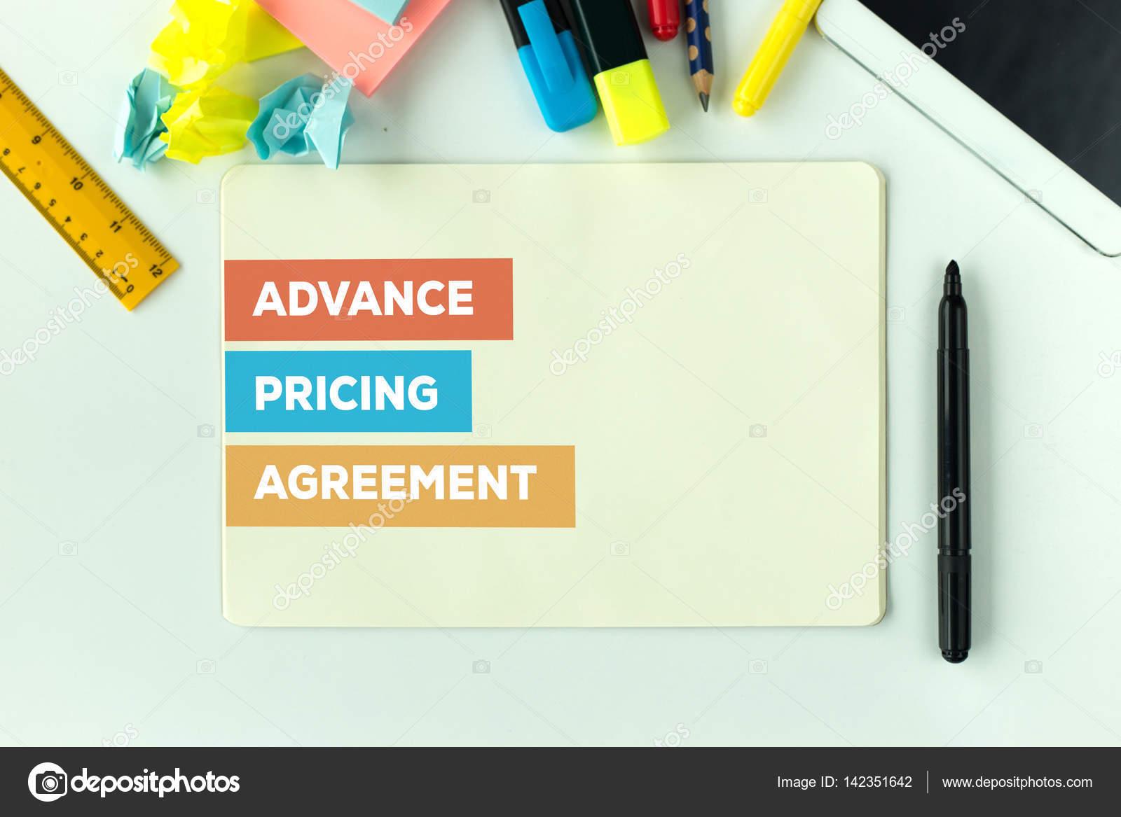 Advance Pricing Agreement Concept Stock Photo Garagestock 142351642
