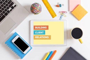 BUILDING CLIENT RELATIONS CONCEPT