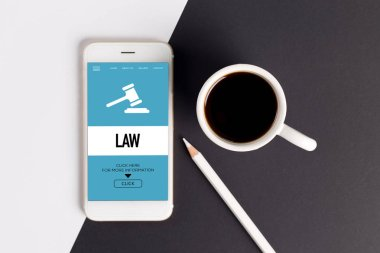 LAW CONCEPT on screen