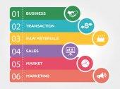 B2B Business to Business infografiky koncept