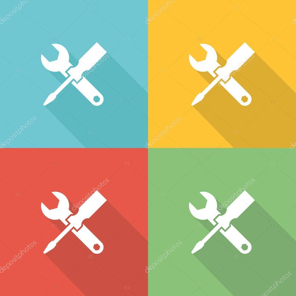 Maintenance Flat Icon Concept
