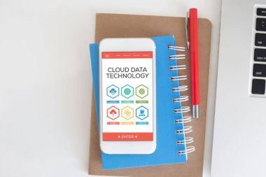 Cloud Data Technology concept