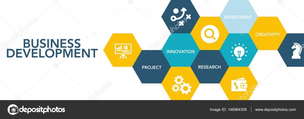 Business Development Icon : Business development icon concept — stock vector