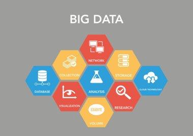 Big Data Icon Concept