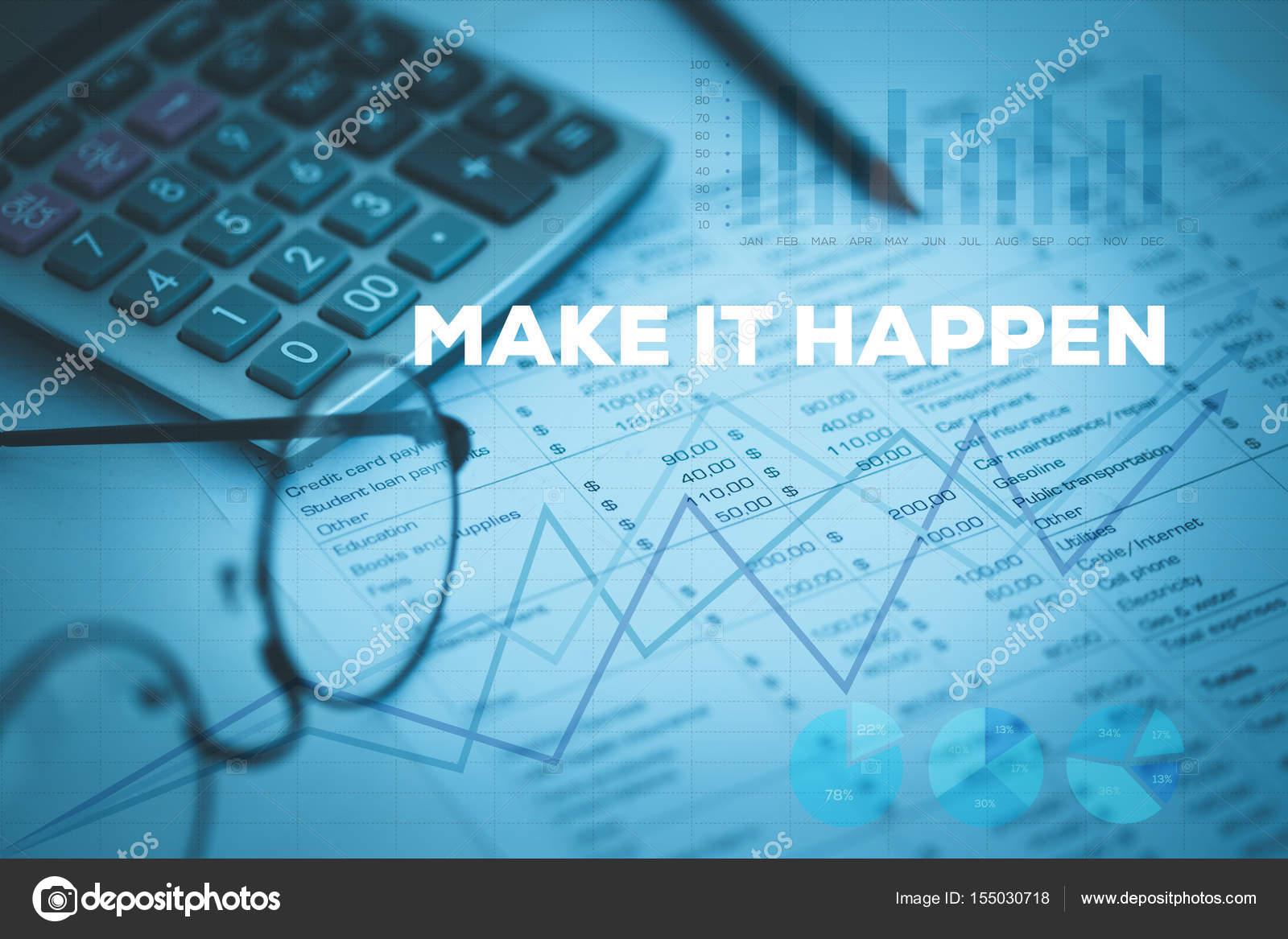 MAKE IT HAPPEN CONCEPT — Stock Photo © garagestock #155030718