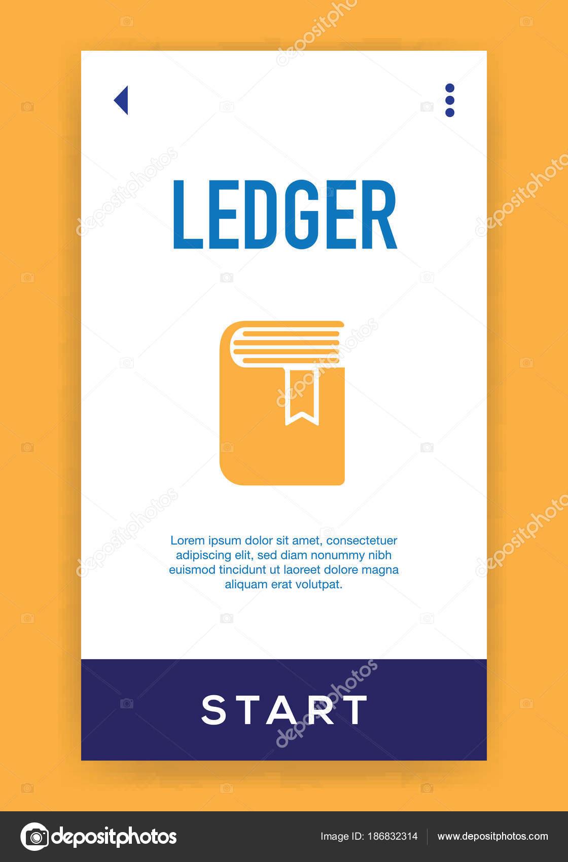 Icono Libro Mayor Ilustración Vector — Vector de stock © garagestock ...