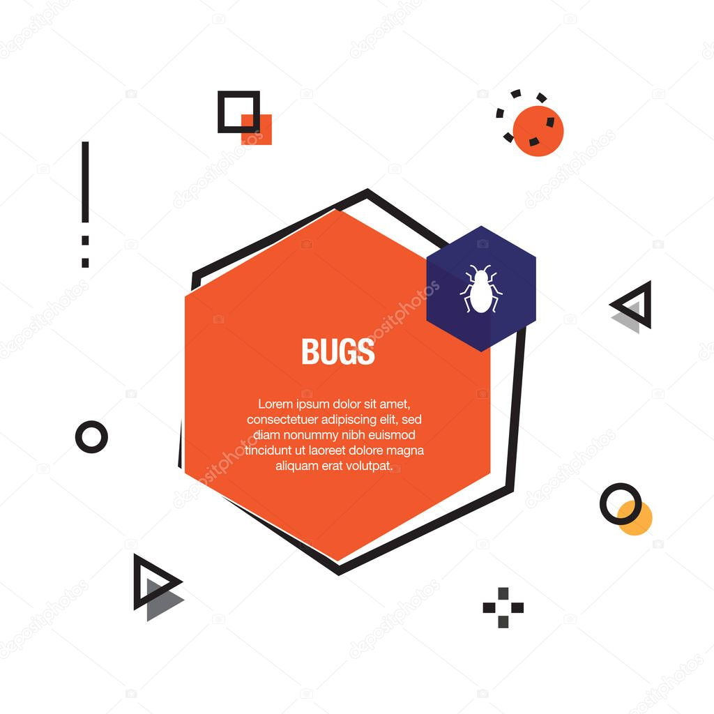 Bugs Infographic Icon, vector illustration
