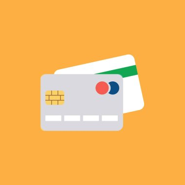 CREDIT CARD FLAT ICON. Vector illustration