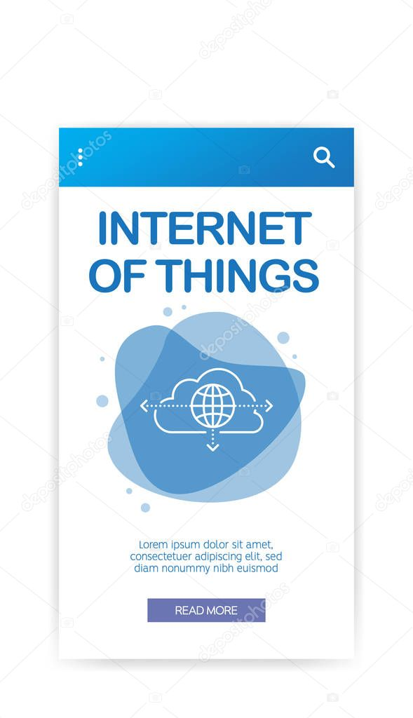INTERNET OF THINGS INFOGRAPHIC. Vector illustration