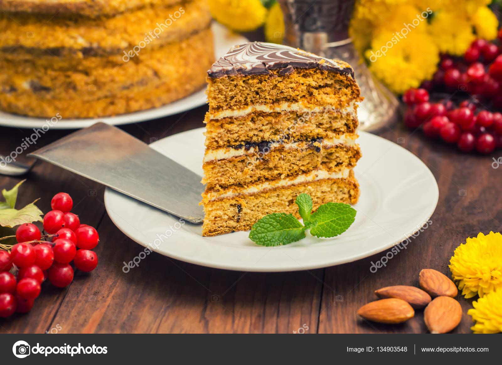 Accent du .selective gâteau traditionnel hongrois Esterhazy