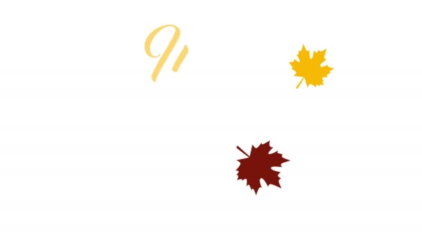 4k thanksgiving greeting card with happy thanksgiving animation