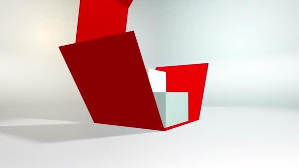 4k 60 fps Schleife. Black Friday und Cyber Monday Verkauf Red Cube 20 Prozent Rabatt.