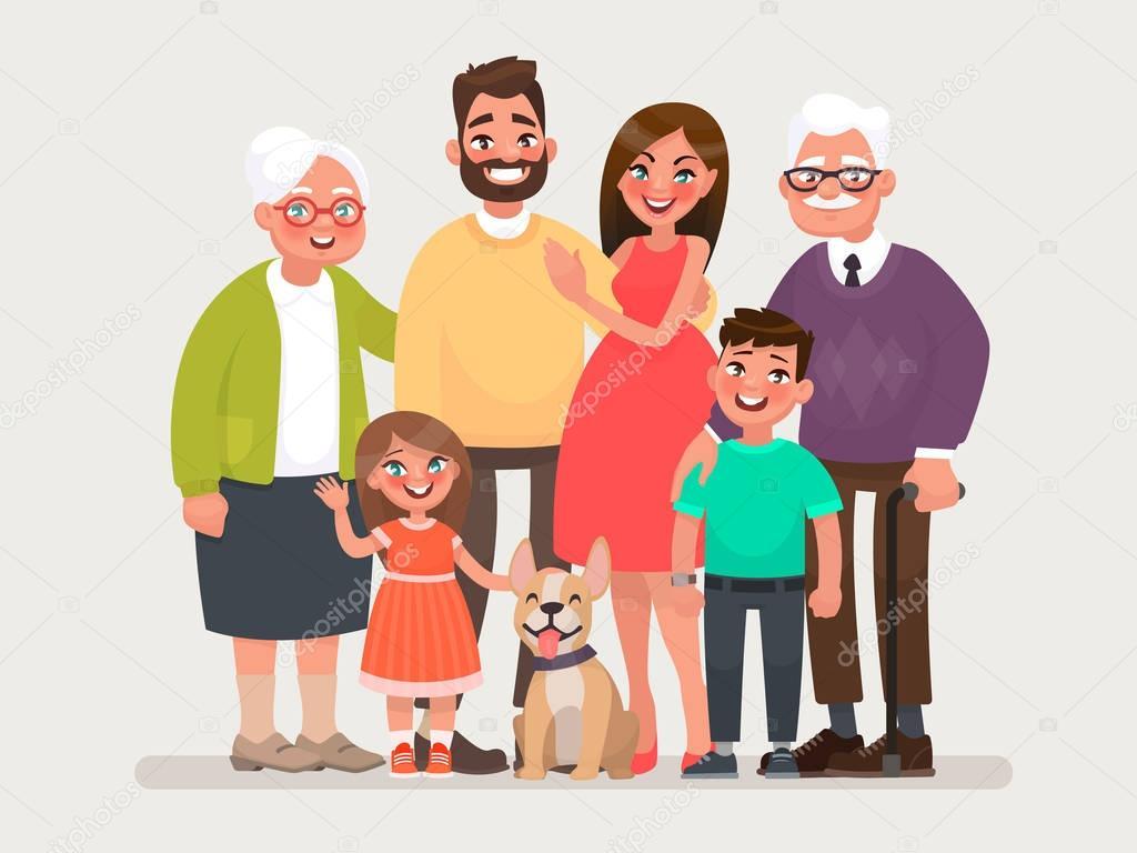 Картинки бабушка дедушка мама папа дети