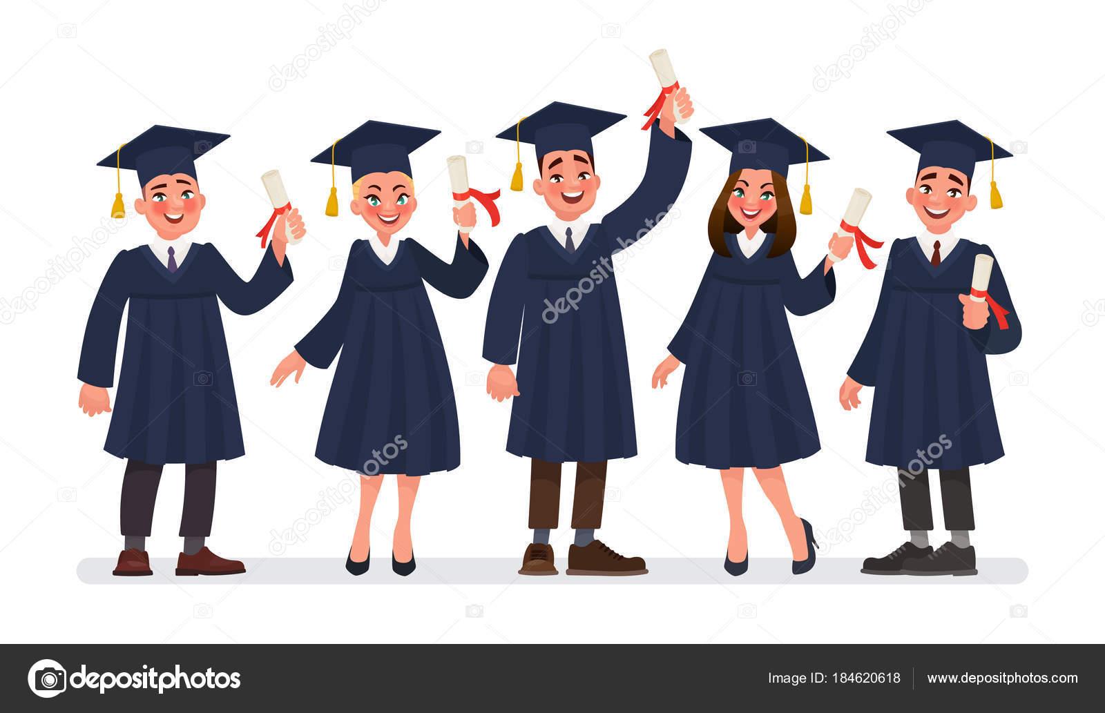 Группа студентов выпускников с