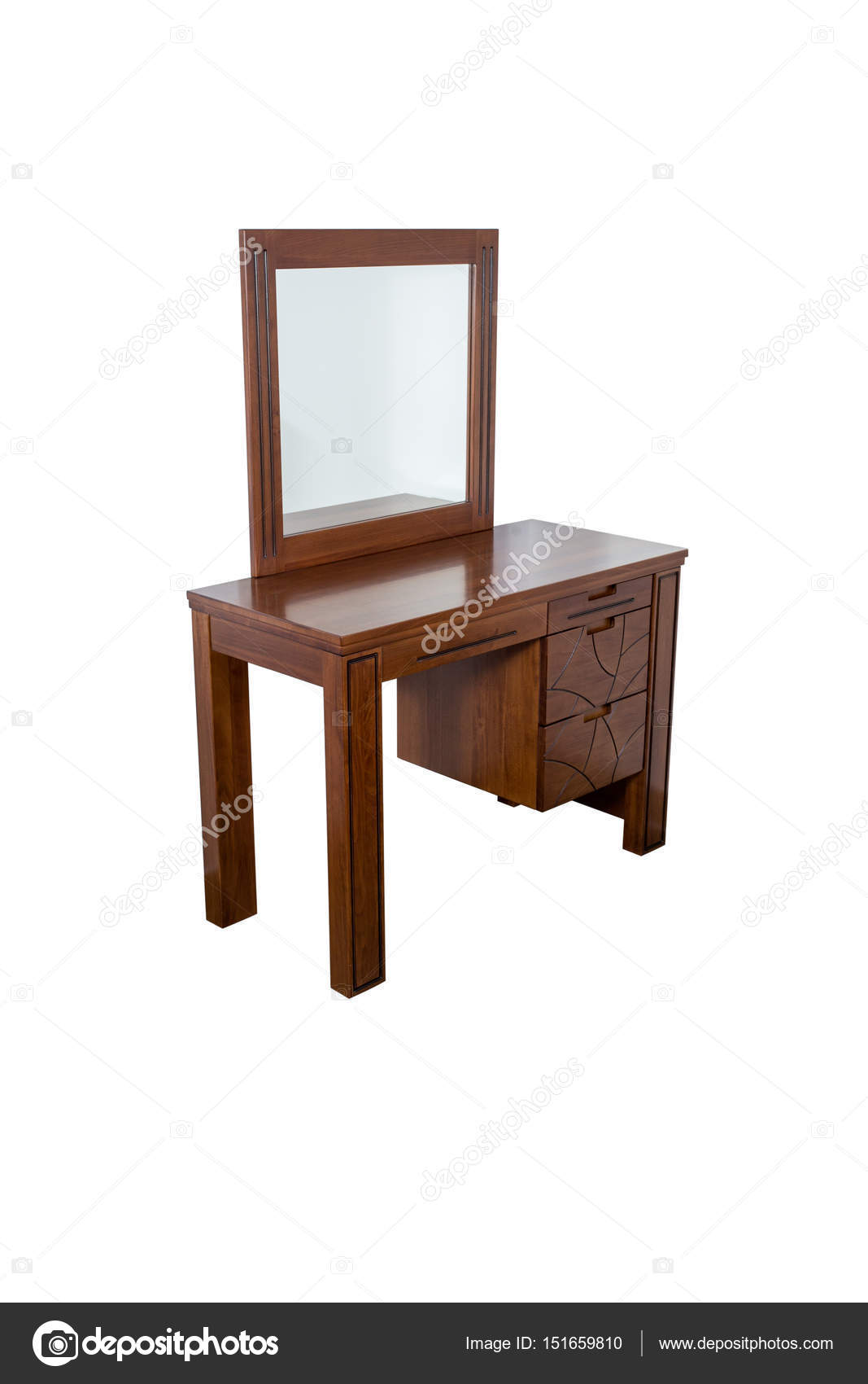 Magnificent Modern Dresser With Mirror Isolated On White Stock Photo Gmtry Best Dining Table And Chair Ideas Images Gmtryco