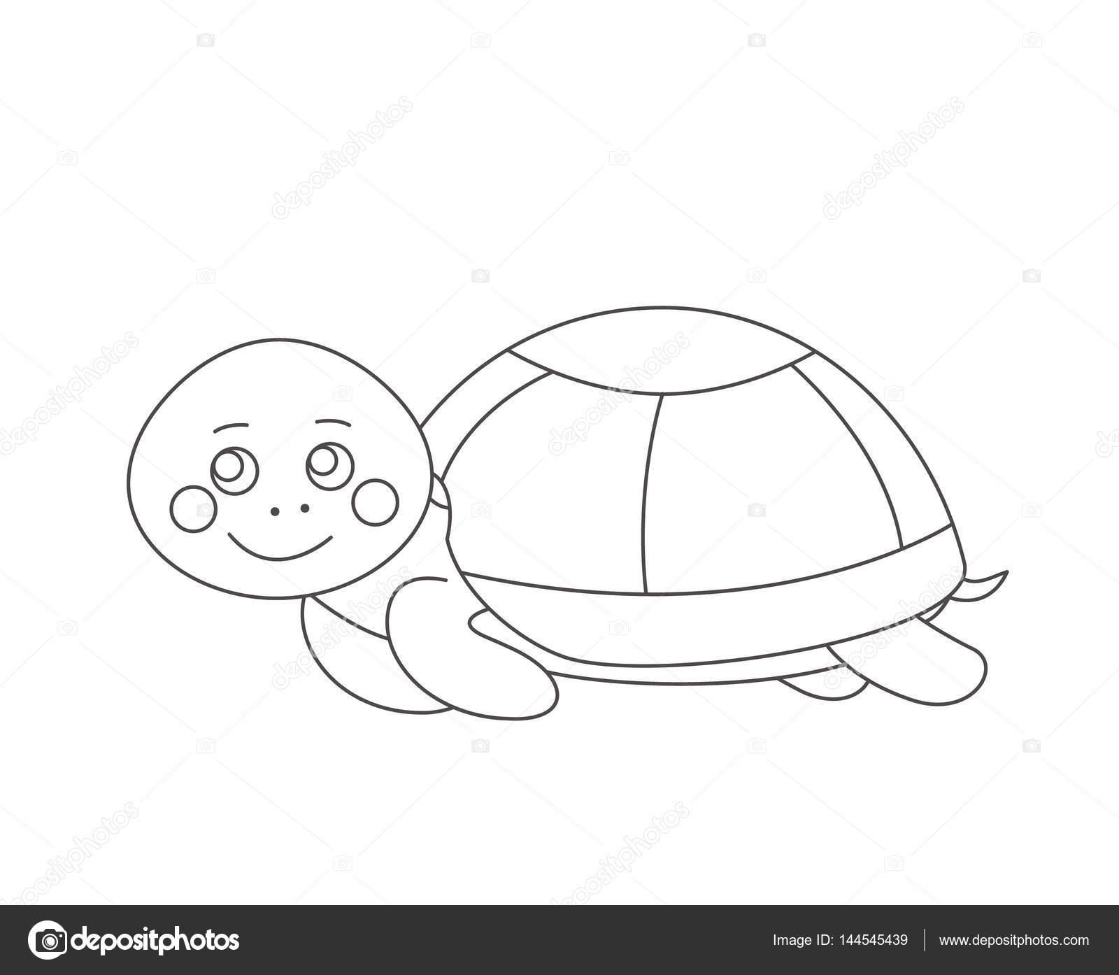 Kaplumbağa Boyama Kitabı Için Stok Vektör Romalka 144545439
