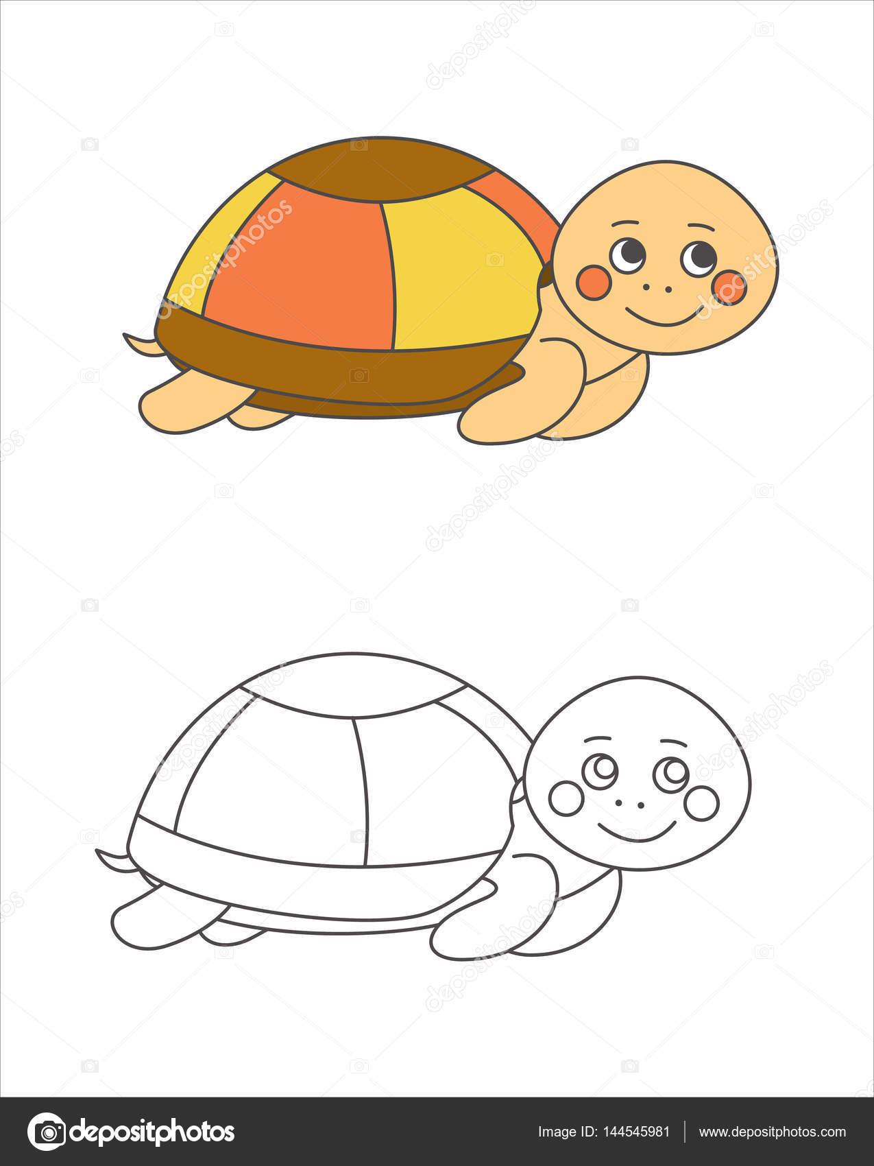 Tortugas para colorear libro — Archivo Imágenes Vectoriales ...