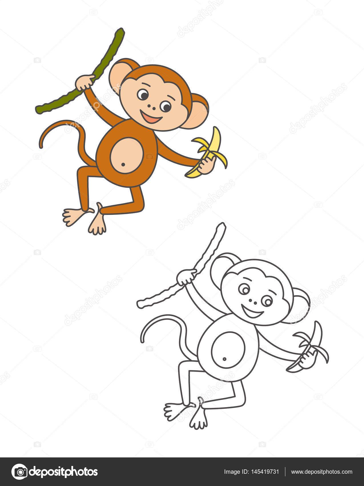 Boyama Kitaby Maymun Boyama Resim Cizmek