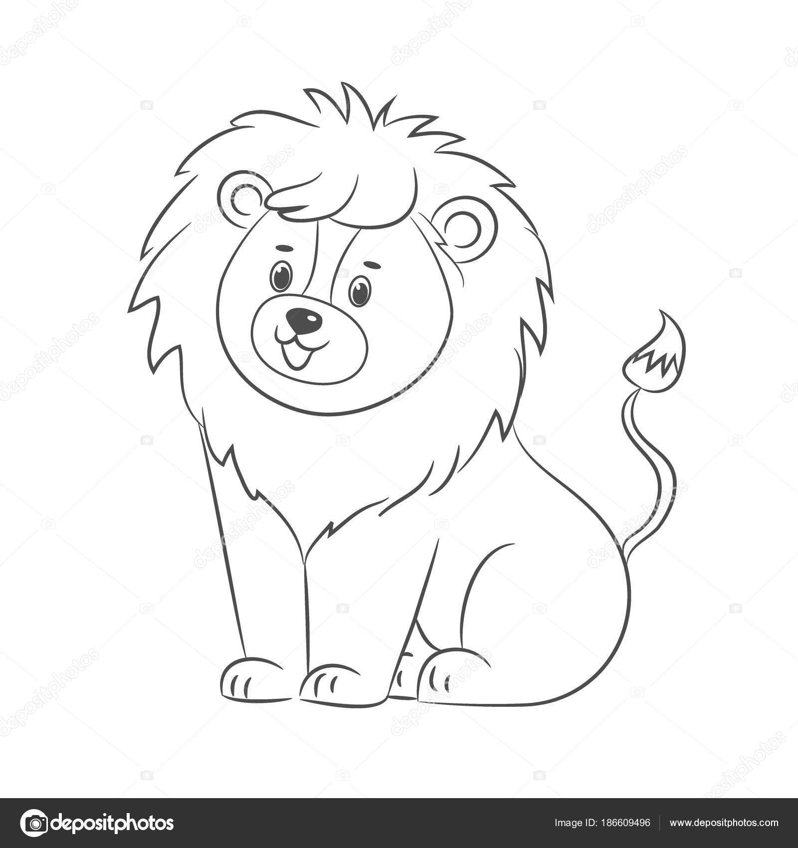 León para colorear libro — Archivo Imágenes Vectoriales © romalka ...