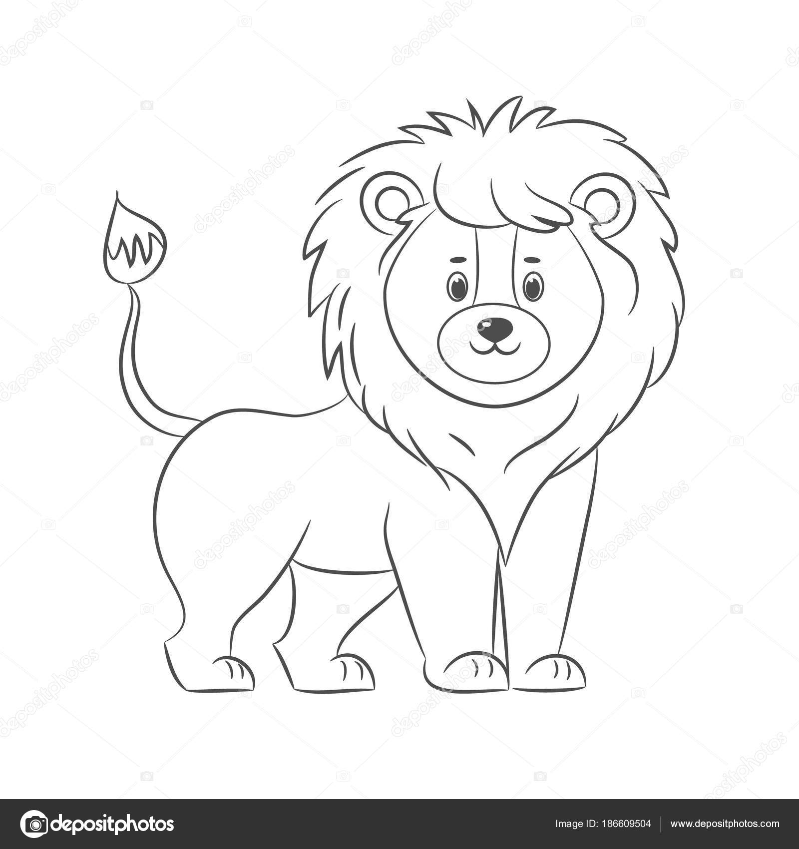 Lion for coloring book. — Stock Vector © romalka #186609504