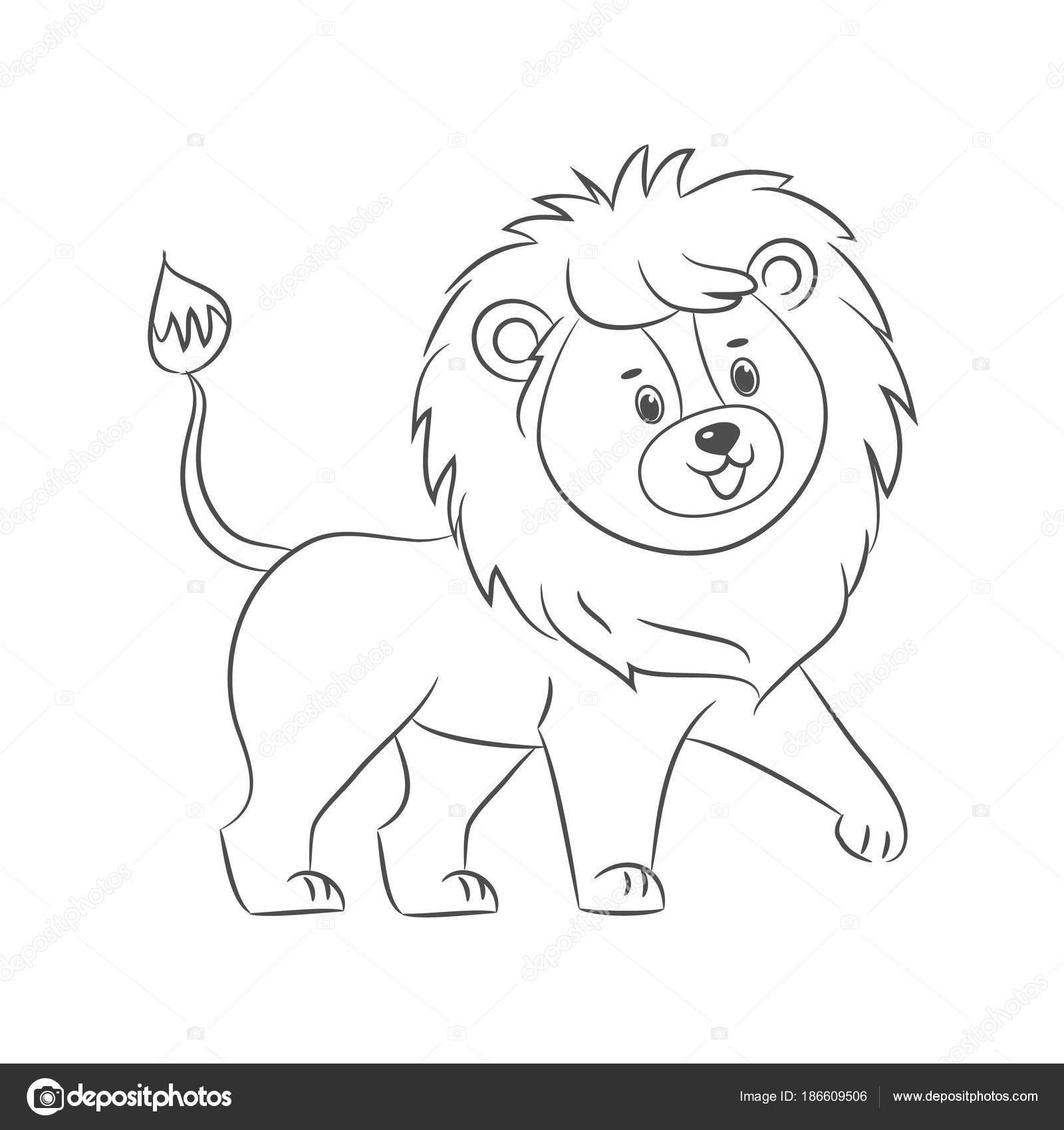 Imágenes Un Leon Para Colorear León Para Colorear Libro Vector