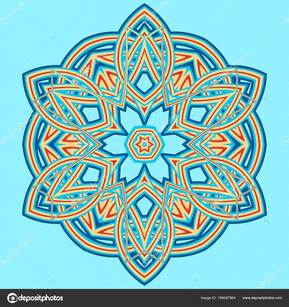 f8551cbbd9589 Colorful Mandala. Ethnic tribal ornaments– stock illustration