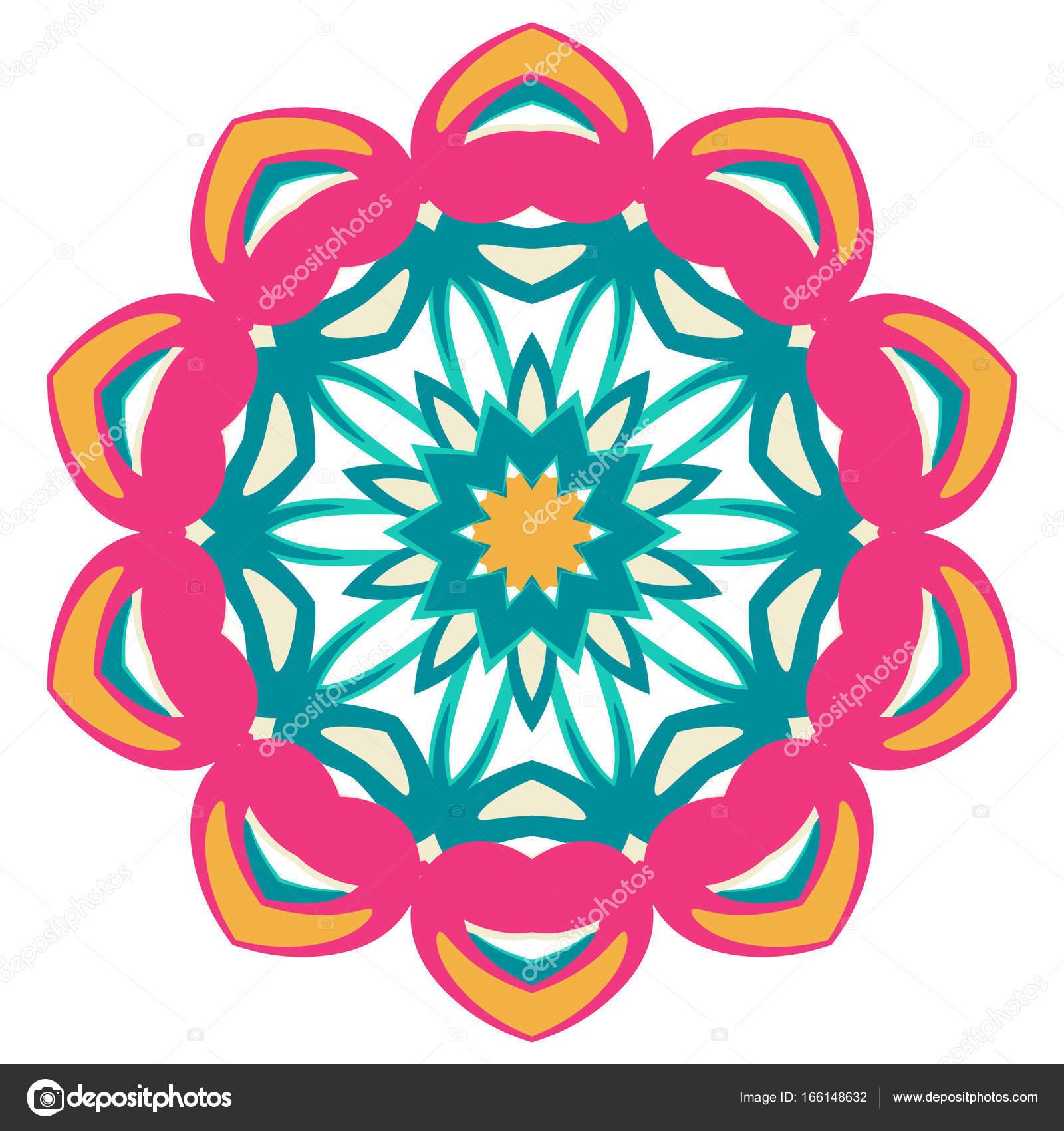 Mandala De Colores Adornos Tribales étnicas Archivo Imágenes
