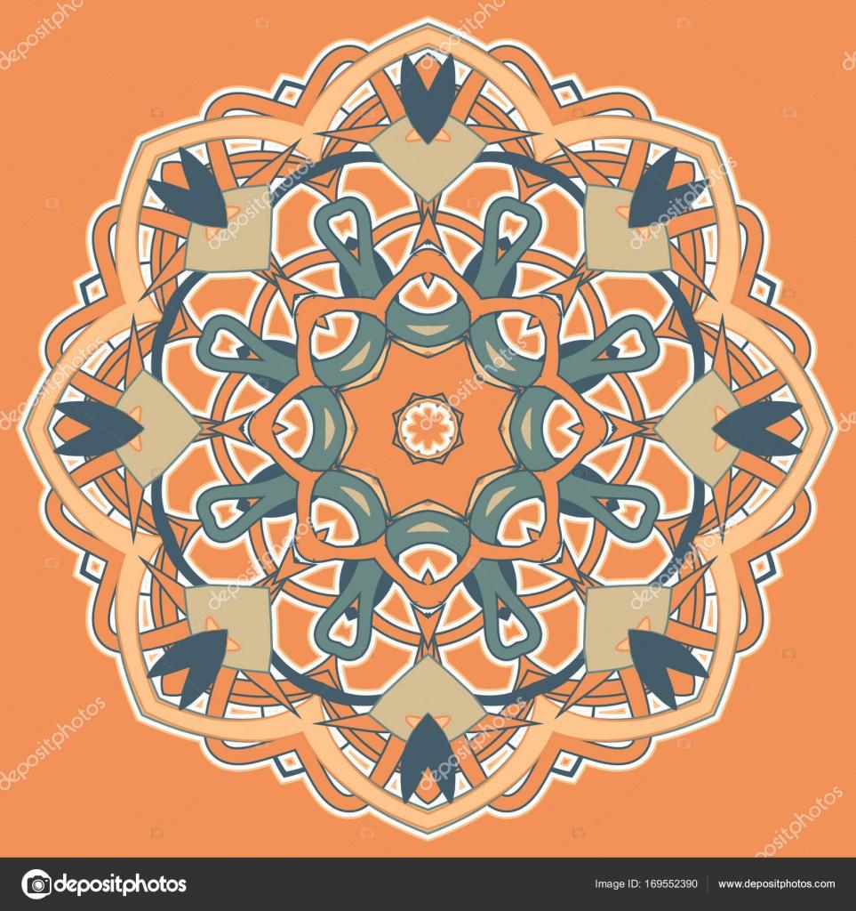 ee9aa6799b55a Aribic Colorful Mandala. Ethnic tribal ornaments– stock illustration