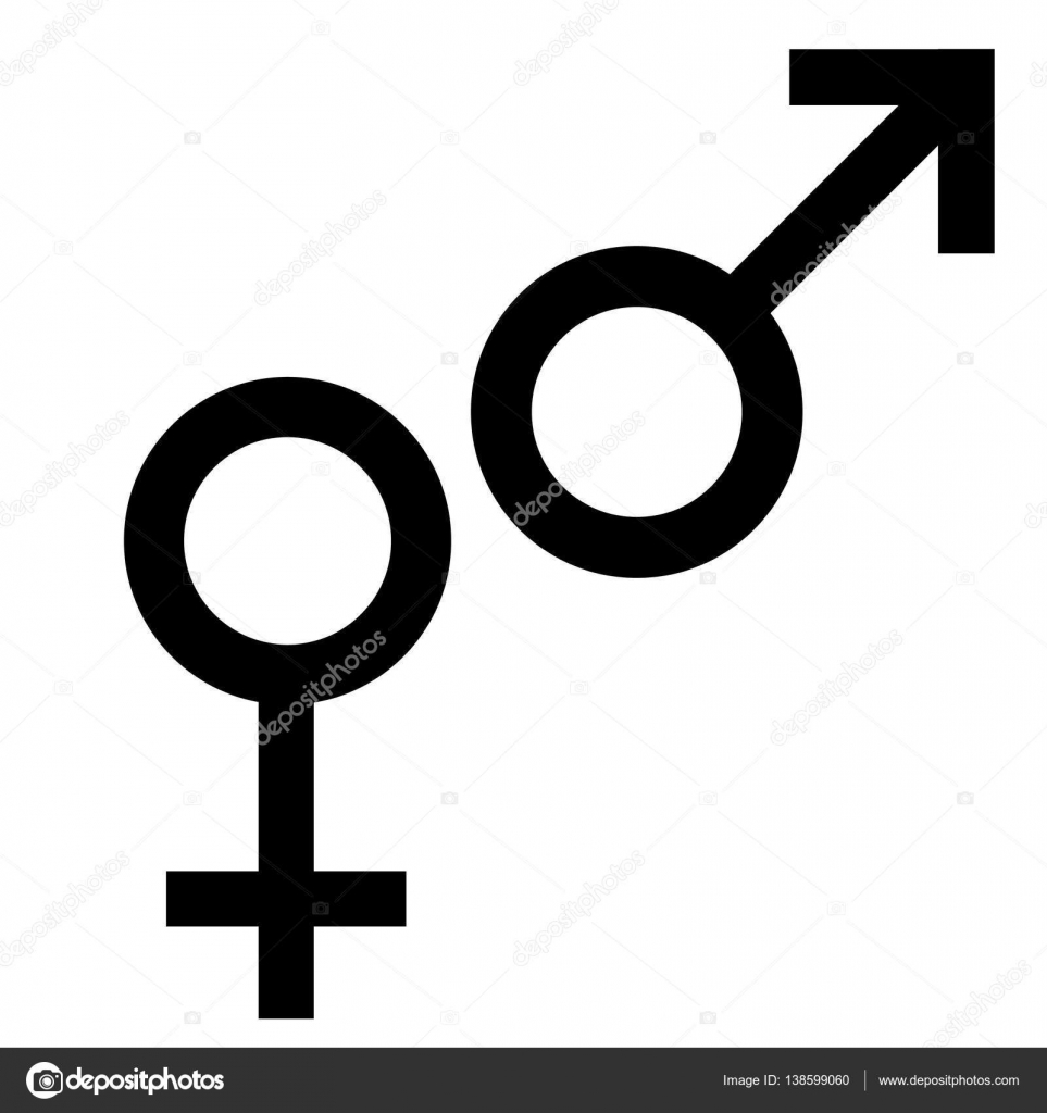 Sex Black Symbol Gender Man And Woman Symbol Male And Female