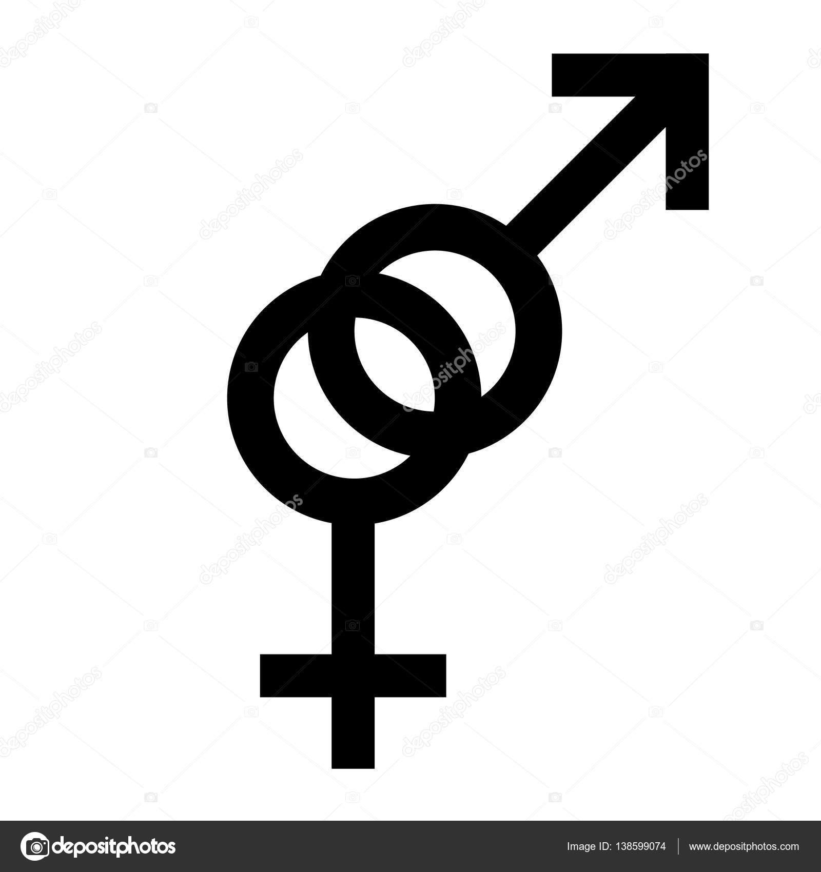 zwarte mannelijke geslacht symbolen