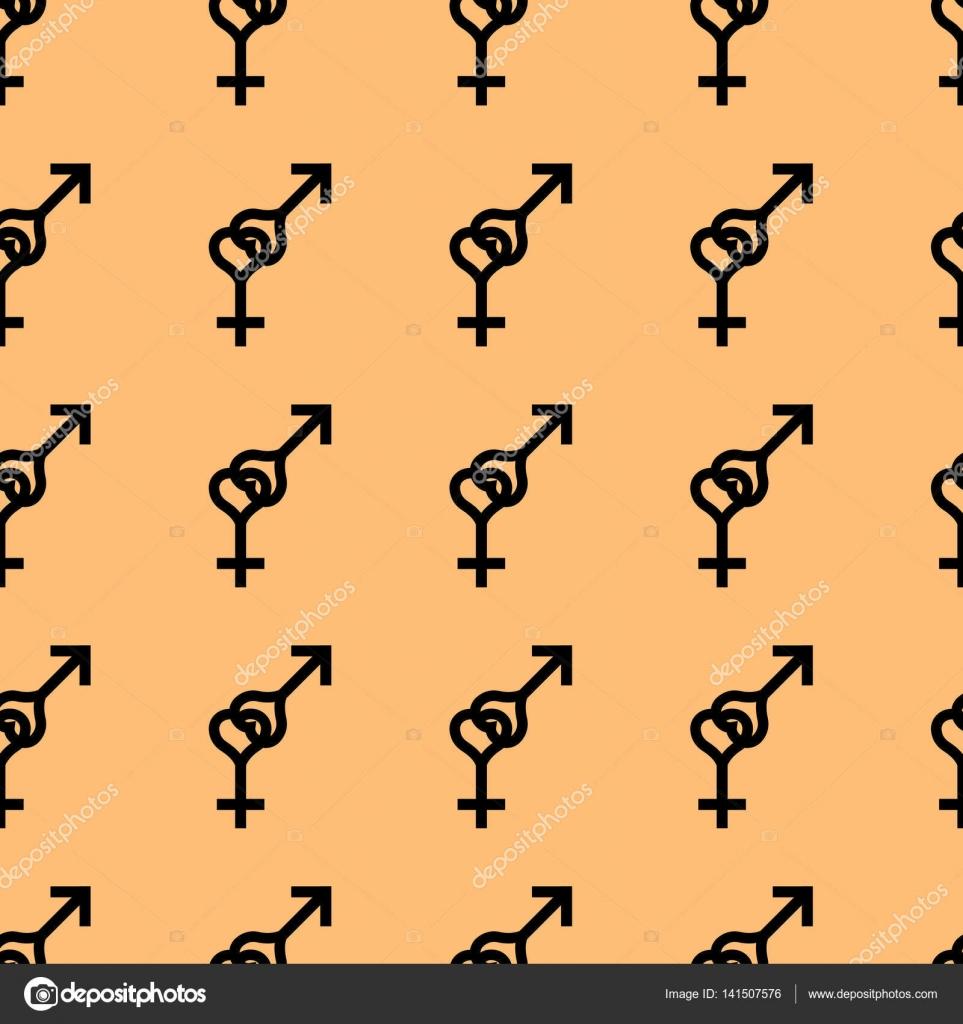 Nahtlose Muster. Weibliche und männliche romantische Kollektion ...