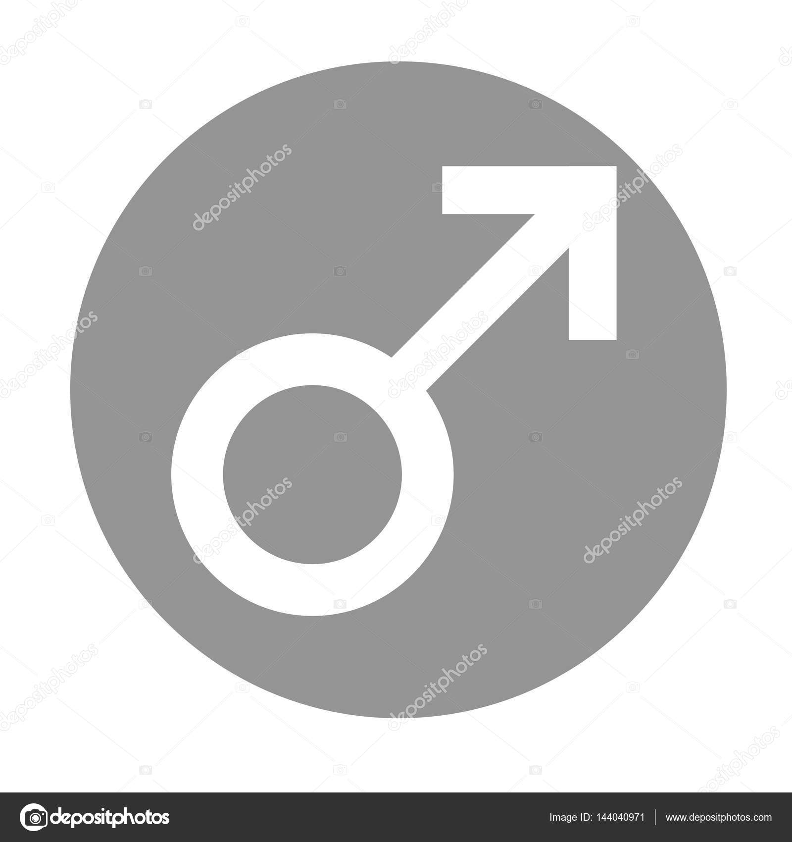 Sex Symbol Gender Man Flat Symbol White Male Abstract Symbol In