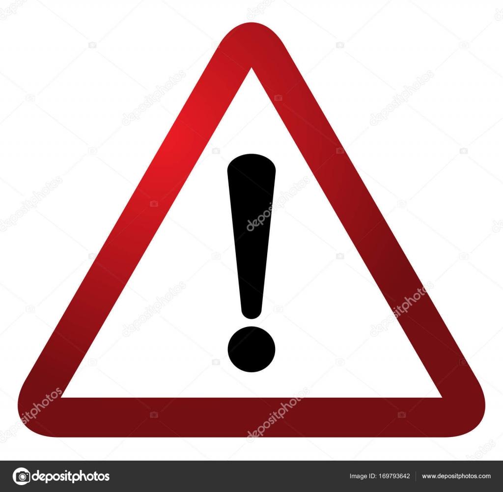 alerte d avertissement triangle rouge signe vector illustration attention 3d attention signe. Black Bedroom Furniture Sets. Home Design Ideas
