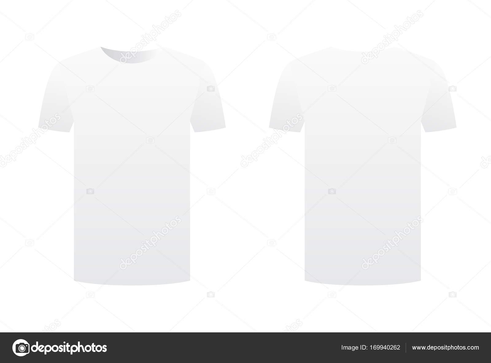 Weißes T-shirt Vorlage Hemd isoliert auf weißem Hintergrund Front ...