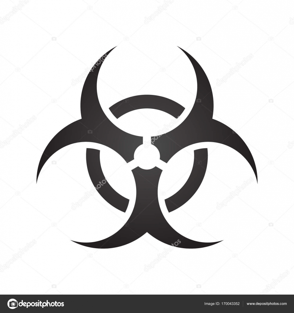 Biohazard illustration toxic sign symbol warning radioactive biohazard illustration toxic sign symbol warning radioactive zone triangle icon isolated on gradient background biocorpaavc Images