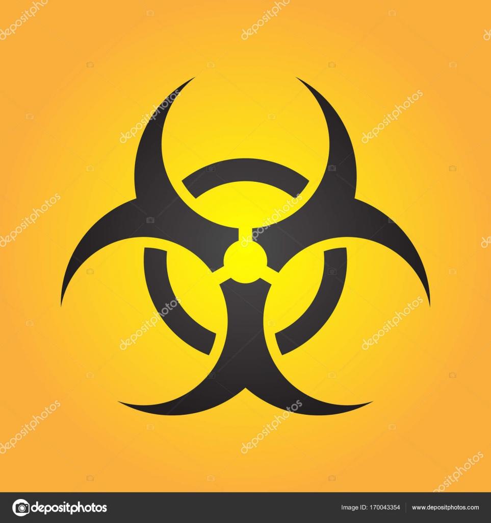 バイオハザード イラスト有毒なサインシンボル放射能危険な放射線