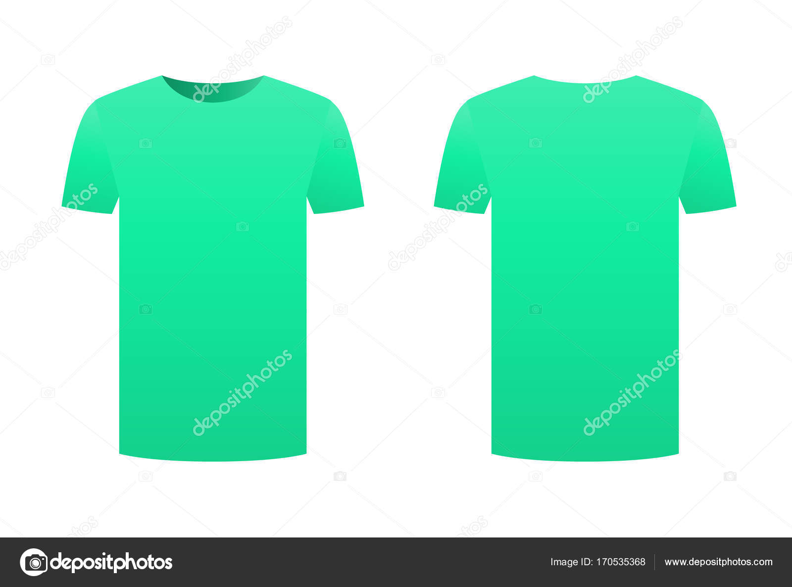 Teal t-shirt template shirt isolated on white background front and ...