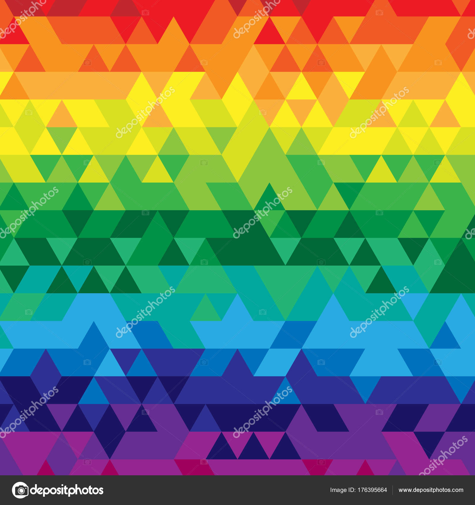Rainbow Colors Red Orange Yellow Green Blue Abstract Low Poly Simple Web Template Background Pattern Gradient Frame Design Poster Vector By Pixelae