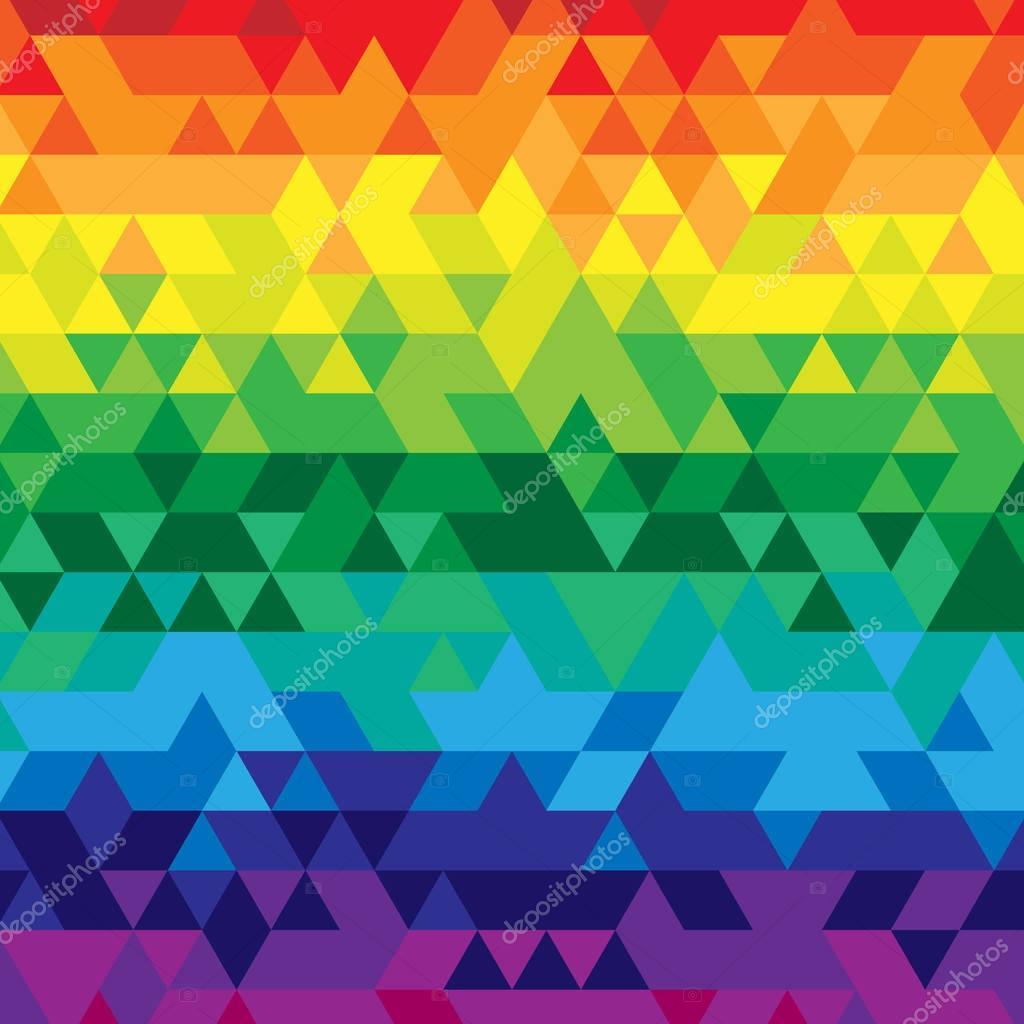 Diseño Del Rainbow Warrior Iii: Formación De Triángulo En Colores Del Arco Iris De Verano