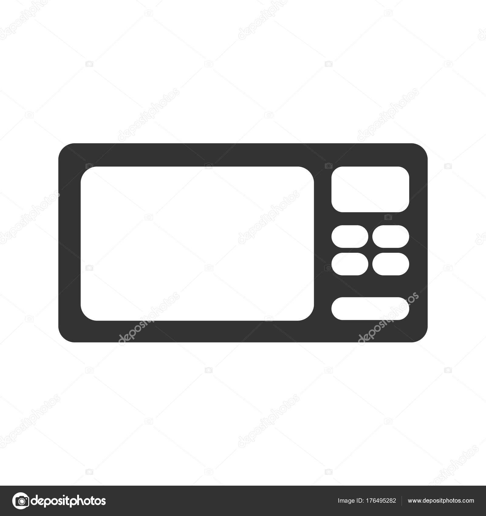Mikrowelle-Symbol. Vereinfachte Mikrowelle Symbol Vektor. Küche ...