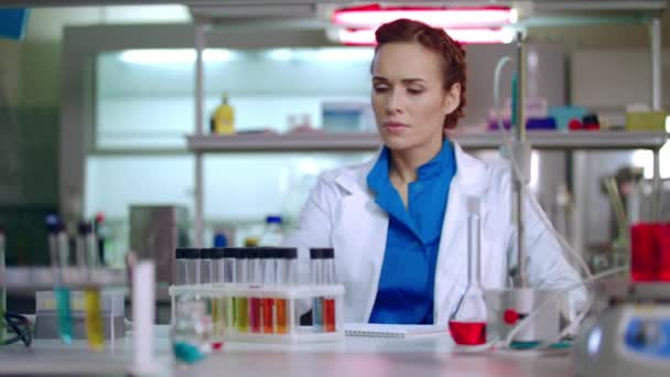 Female chemist preparing for chemical research. Woman chemist in lab ...
