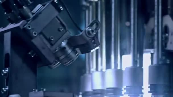 Optical quality control machine at pharmaceutical manufacturing line