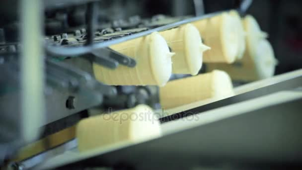 Ice cream factory. Food processing plant. Ice cream manufacturing process