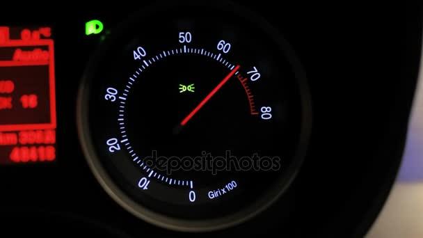 Tachometer revving  Car tachometer arrow revving  Engine rpm meter