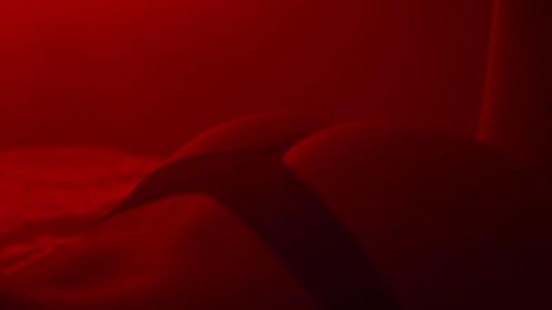 Sexy žena prdel v černém prádle. Erotické koncept. Nahá dívka tělo ve spodním prádle